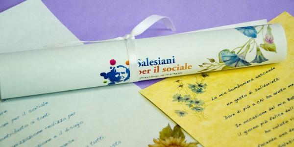 Pergamene Solidali – Salesiani per il Sociale