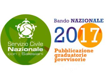 Bando Nazionale Servizio Civile 2017. Le graduatorie provvisorie