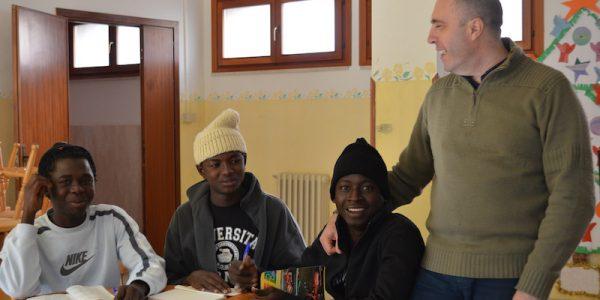 I Care Camporeale – Palermo – Matteo insieme ai ragazzi della struttura