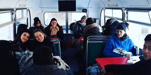 I ragazzi dentro al bus – l'Busse Prato